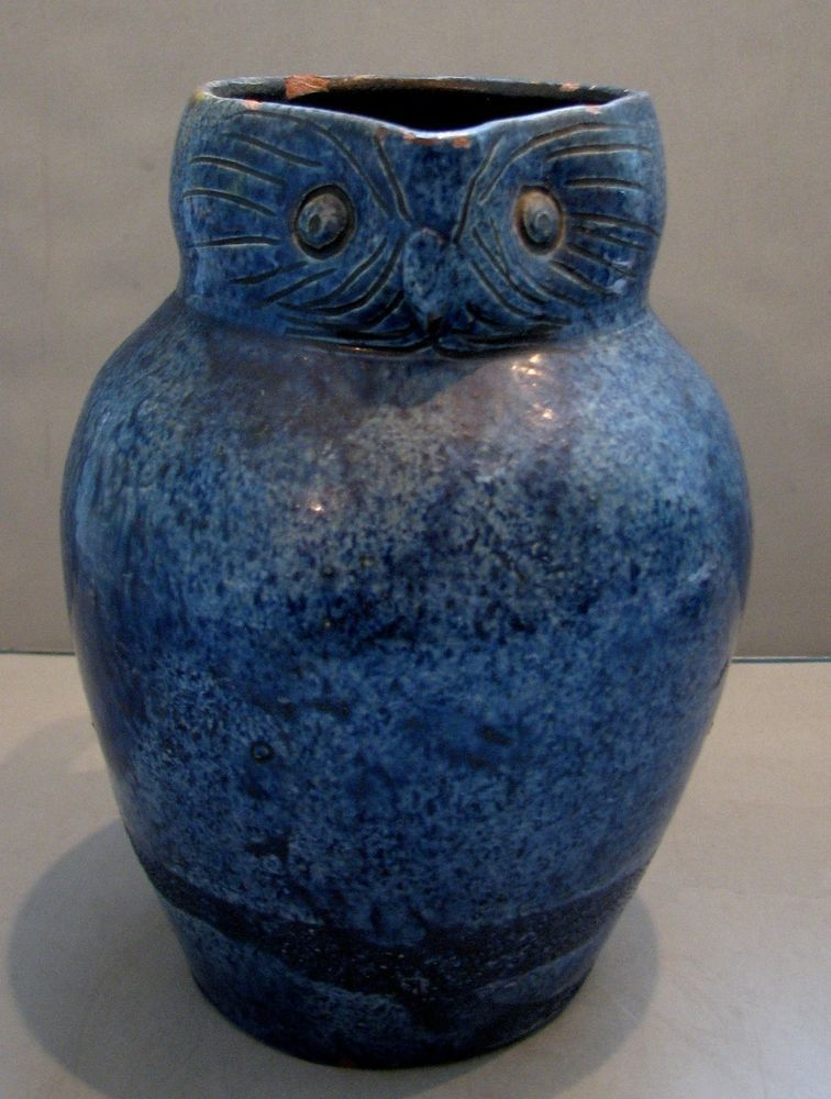 Details About Rare Antique 19thc Ewenny Welsh Pottery Owl