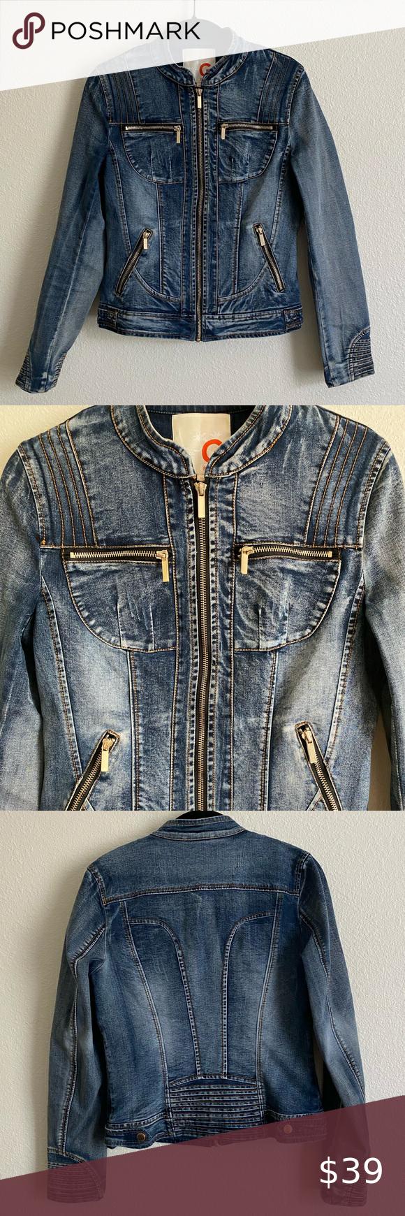 Guess Moto Denim Jacket Denim Jacket Fitted Jean Jacket Fitted Denim Jacket [ 1740 x 580 Pixel ]