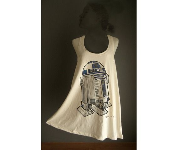 Retro r2 d2 star wars organic cotton tunic m l tanks and camis 6