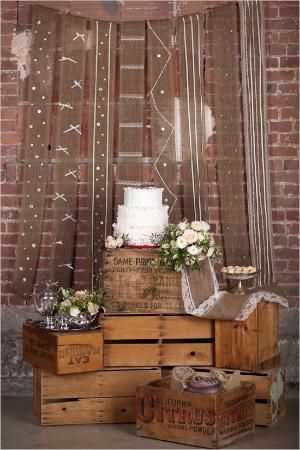 rustic cake stand by aida