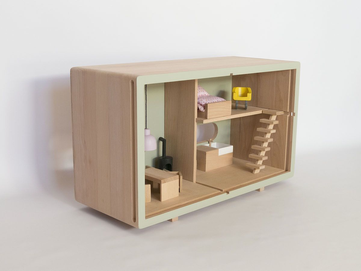 meuble en bois jouet