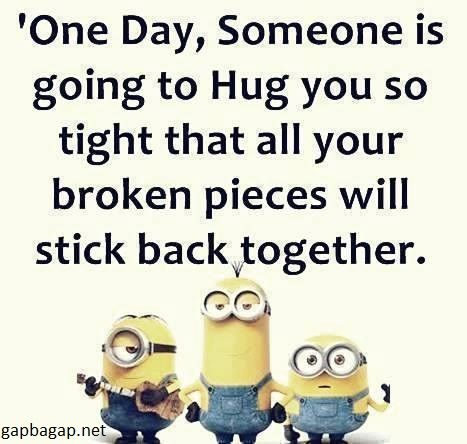 Funny Minion Joke About Hugs
