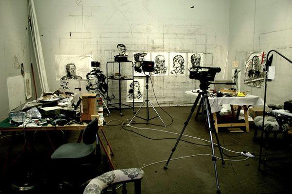 William Kentridge studio