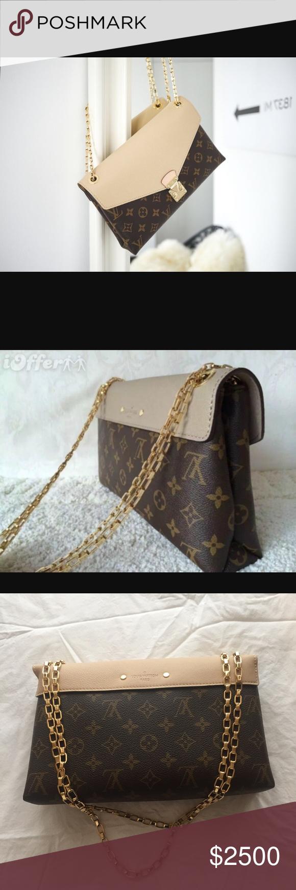 94477f1a6dc9 LOUIS VUITTON Monogram Pallas Chain Bag This brand new authentic chic  shoulder cross body bag