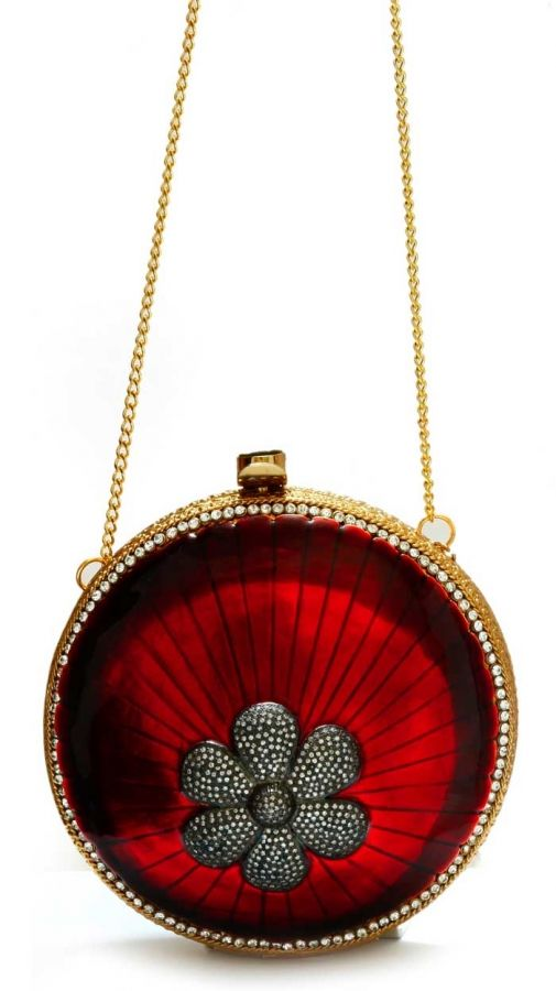 Bloom in Red Clutch V