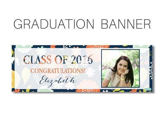 Graduation Banner, High School College Graduation Banner, Class of