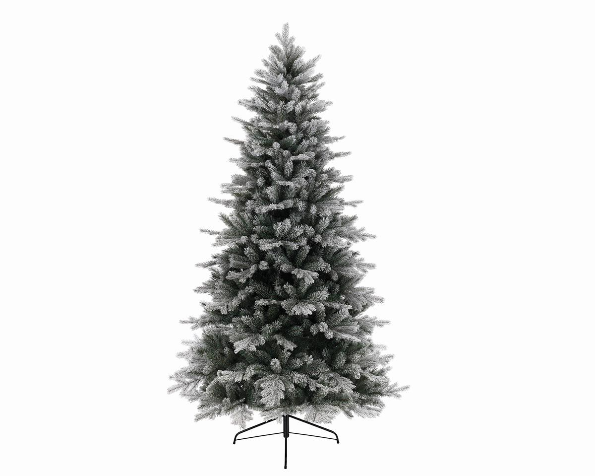 7ft Frosted Vermont Spruce Feel Real Artificial Christmas Tree