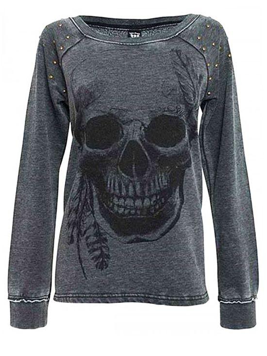 "SA ""Studded Burnout Fleece"" Top by Sullen Clothing (Black)"