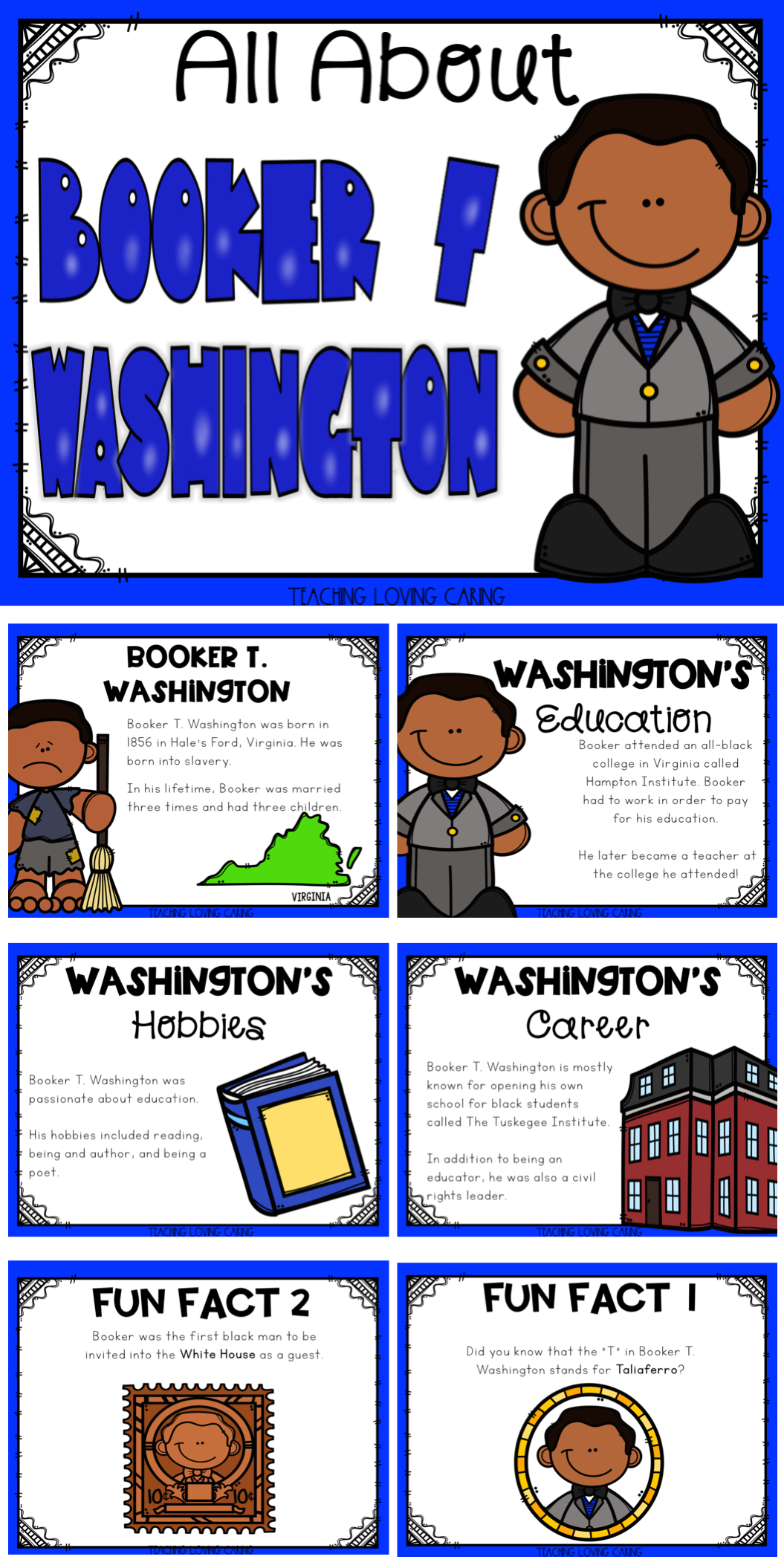 Black History Month All About Booker T Washington Distance Learning Black History Month Projects History Lessons For Kids Black History Activities [ 2110 x 1055 Pixel ]