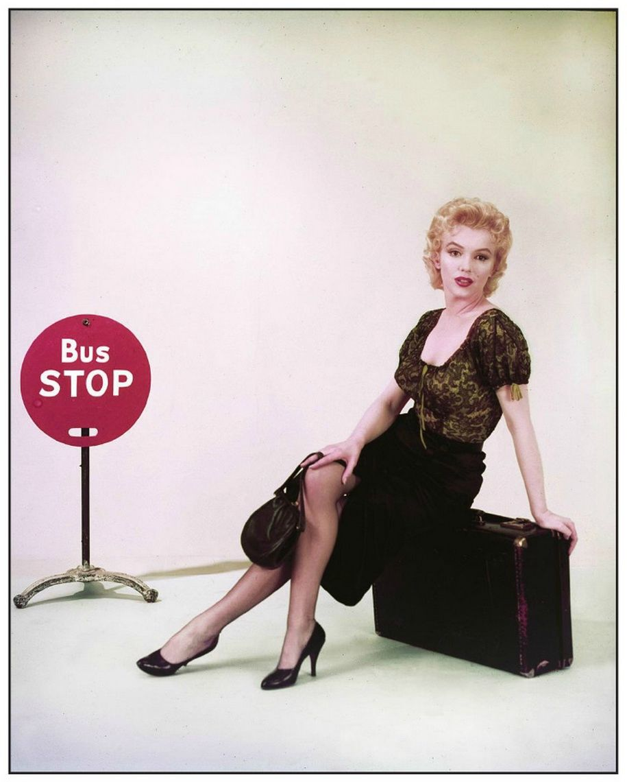 Marilyn in publicity photo for 'Bus Stop' photographed by Milton H. Greene 1956.