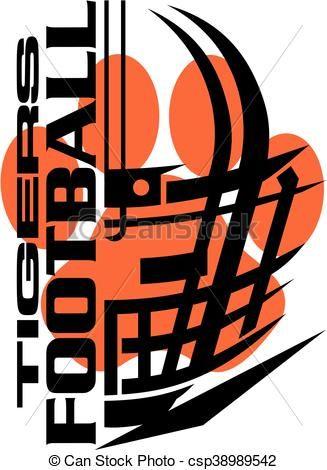 vector tigers football stock illustration royalty free rh pinterest com oakland raiders clip art free oakland raiders clipart free