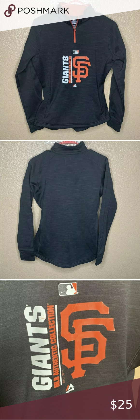 San Francisco Giants Women Zipup Medium Sweatshirt Great Pullover With Thumbholes And 1 4 Zip Smoke Free Sweatshirts Pullover Sweaters Long Sleeve Tshirt Men [ 1740 x 580 Pixel ]