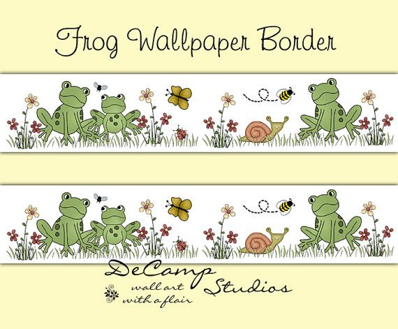 FROG WALLPAPER BORDER Decals Baby Woodland Forest Animal