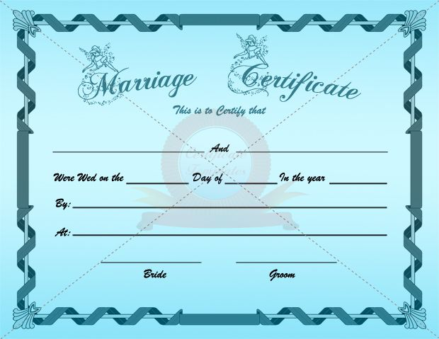 Marriage Certificate Banner Template  Marriage Certificate