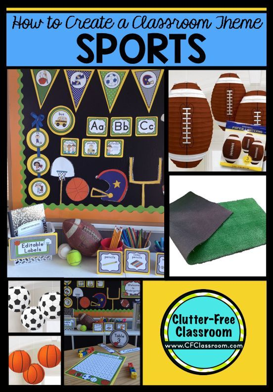picture about Free Printable Classroom Decorations identify Sports activities Themed Clroom - Guidelines Printable Clroom