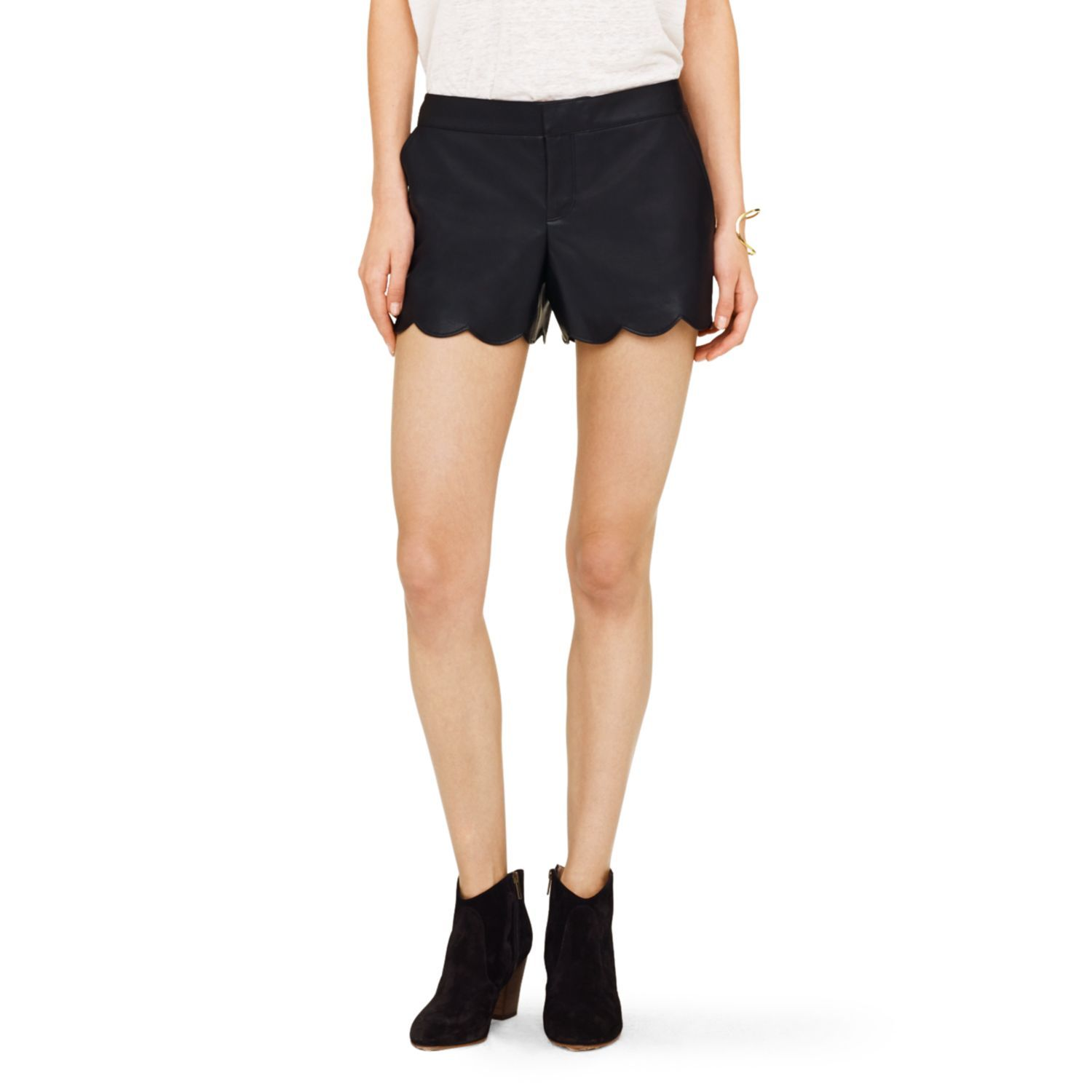 Amber Faux Leather Short Club Monaco Leather Shorts Womens Shorts Clothes [ 1500 x 1500 Pixel ]