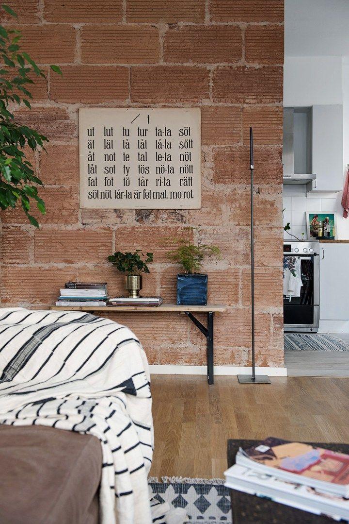 post crear contrastes con ladrillo visto ue vintage decoracin pisos pequeos
