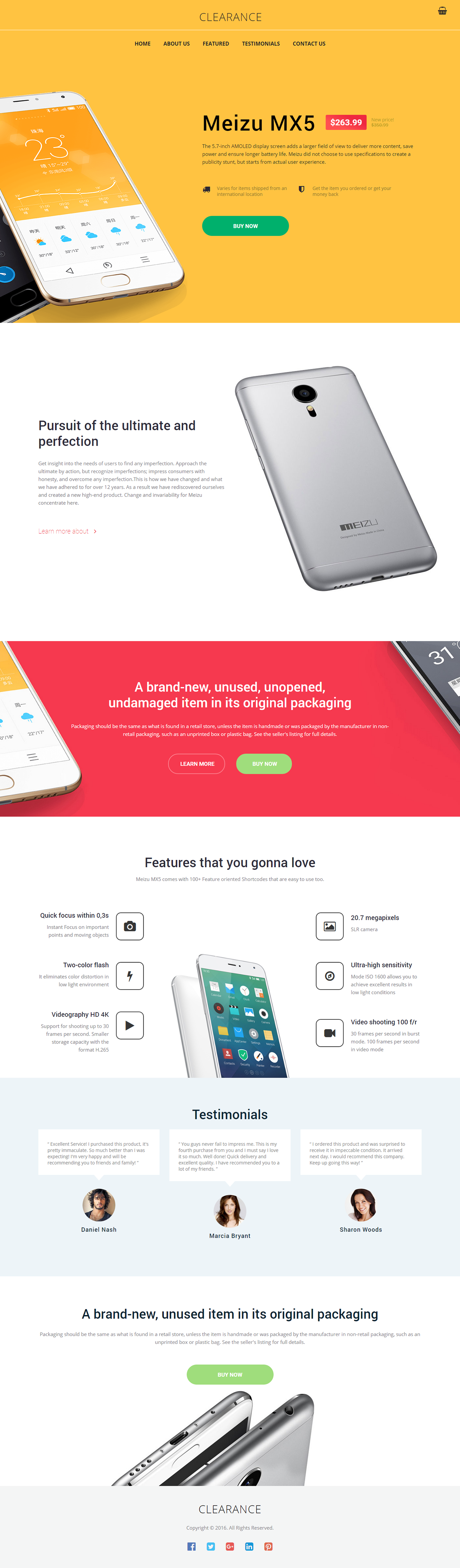 Mobile Store Landing Page Template On Behance Landing Page