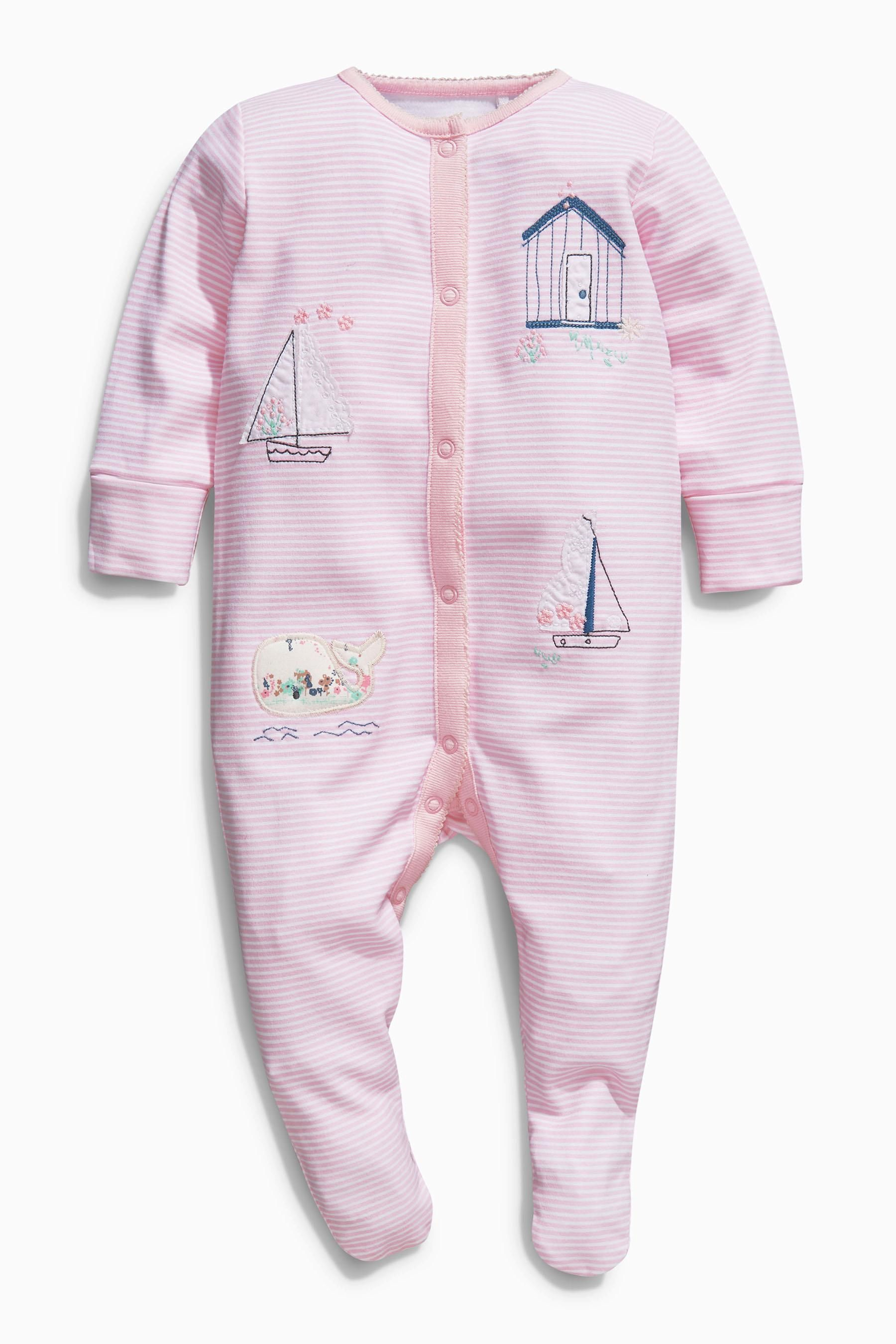 Buy Pink Floral Sleepsuits Three Pack 0mths 2yrs from the Next UK