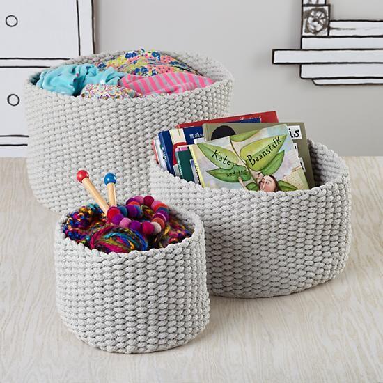 Kids Storage: Colorful Knit Medium Storage Bins In Bins U0026 Baskets | The  Land Of
