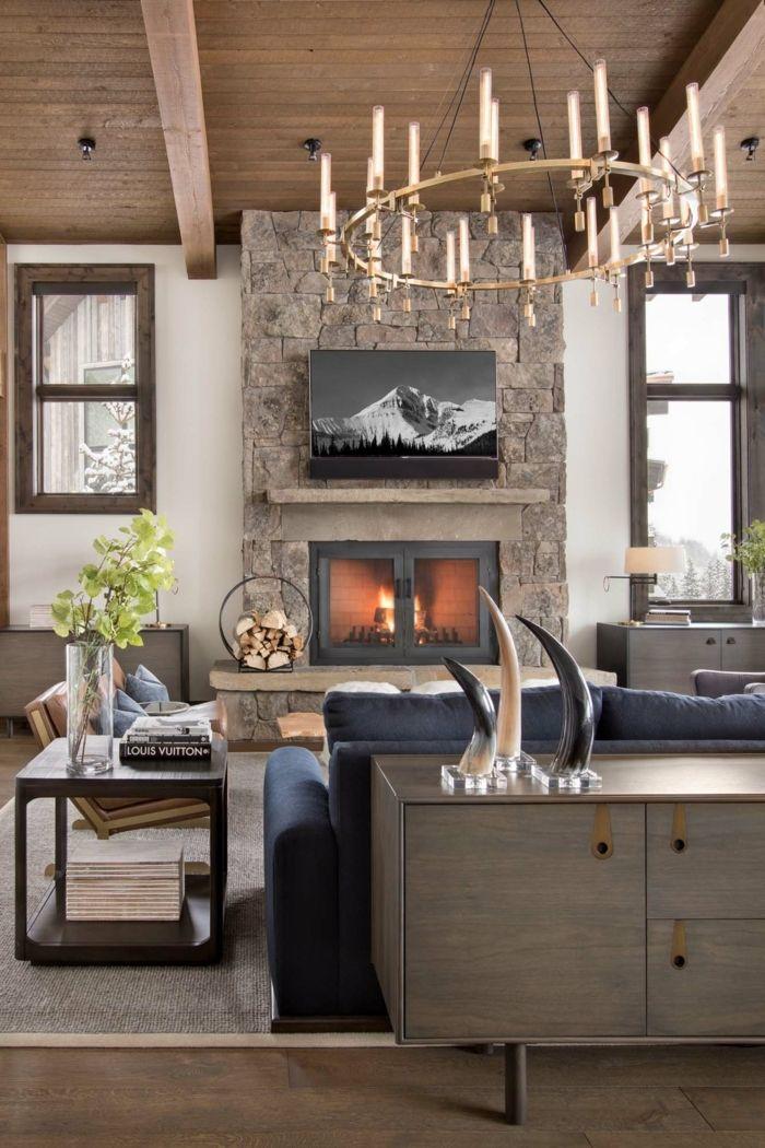 ▷ 1001 + ideas sobre decoración de salones rústicos modernos ...