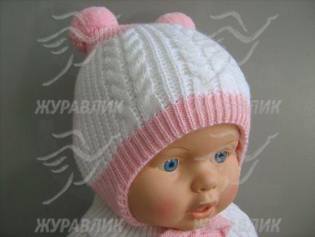 детские шапки для новорожденных и до года вязание спицами