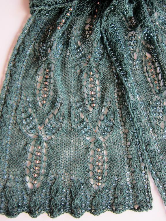 Dragonfly Dreams Beaded Lace Scarf Crochet Pinterest