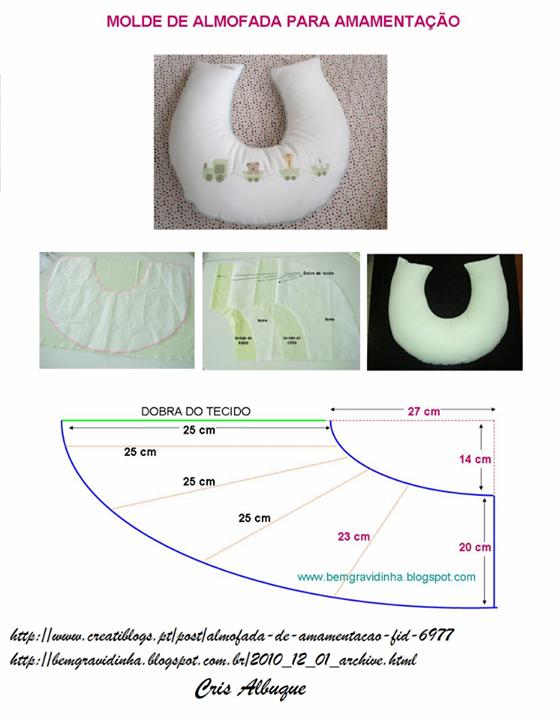 Molde Almofada Amamentação | 9 | Pinterest | Bebe, Costura y ...
