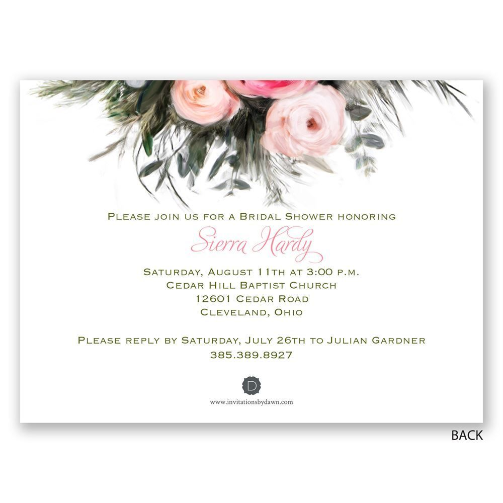 Ethereal garden petite bridal shower invitation shower easily personalized and shipped in a snap find beautiful bridal shower invitations to introduce your filmwisefo Gallery