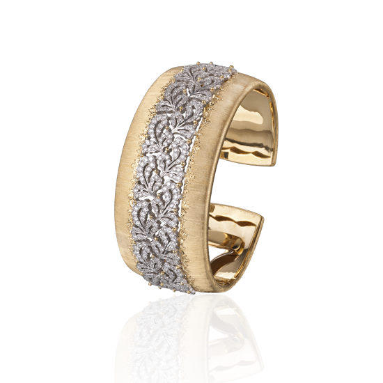 Buccellati 'Bracelets de Rêves' collection bracelet in yellow and white gold and diamonds