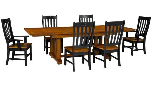 Intercon Rustic Mission 7 Piece Dining Set