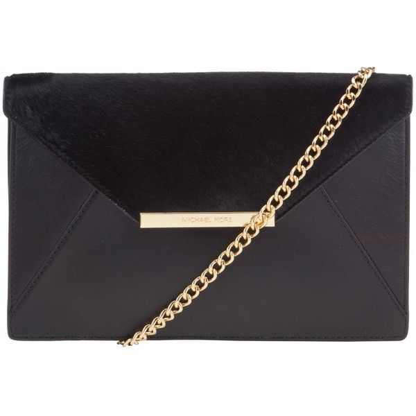 7ce4cd67dee6 ... cheap michael michael kors lana envelope leather clutch bag black  17.000 rub liked ce2c2 c3725