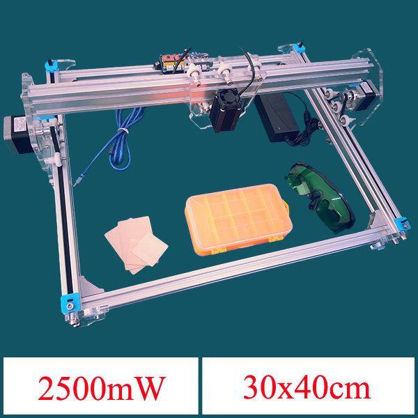 2500mW A3 30x40cm Desktop DIY Violet Laser Engraver Picture CNC Printer Assembling Kits Sale - Banggood Mobile