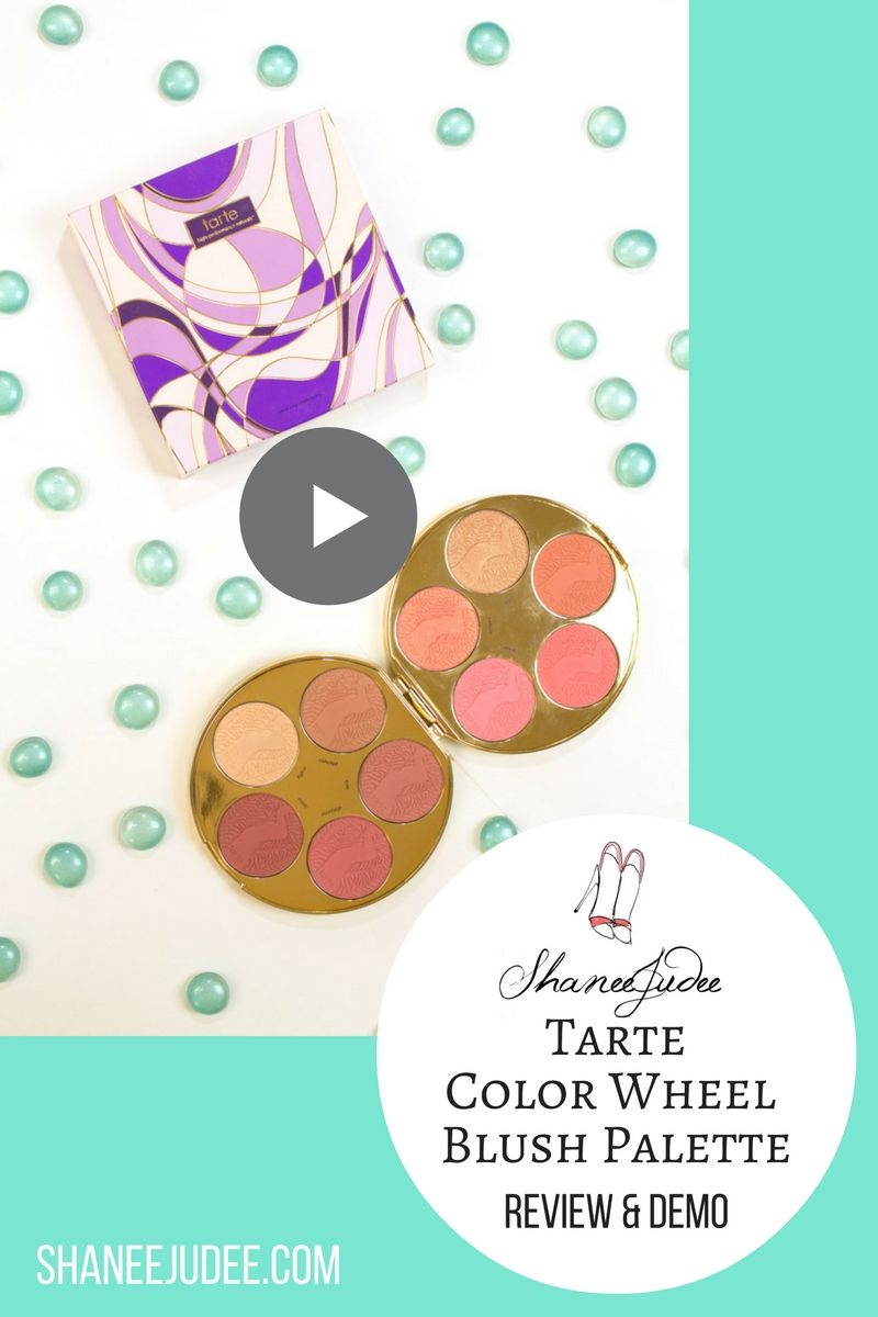 Tarte Color Wheel Blush Palette Review & Demo! In this video, I'll swatch each blush and highlighter, try on one of the highlighters and blushes, and give you my first impressions of the Tarte Holiday Blush Palette!