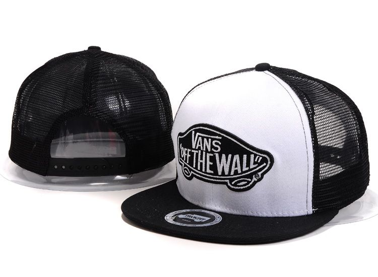 VANS Snapback Hats OFF THE Wall Mesh Hats Black  7467be4a9