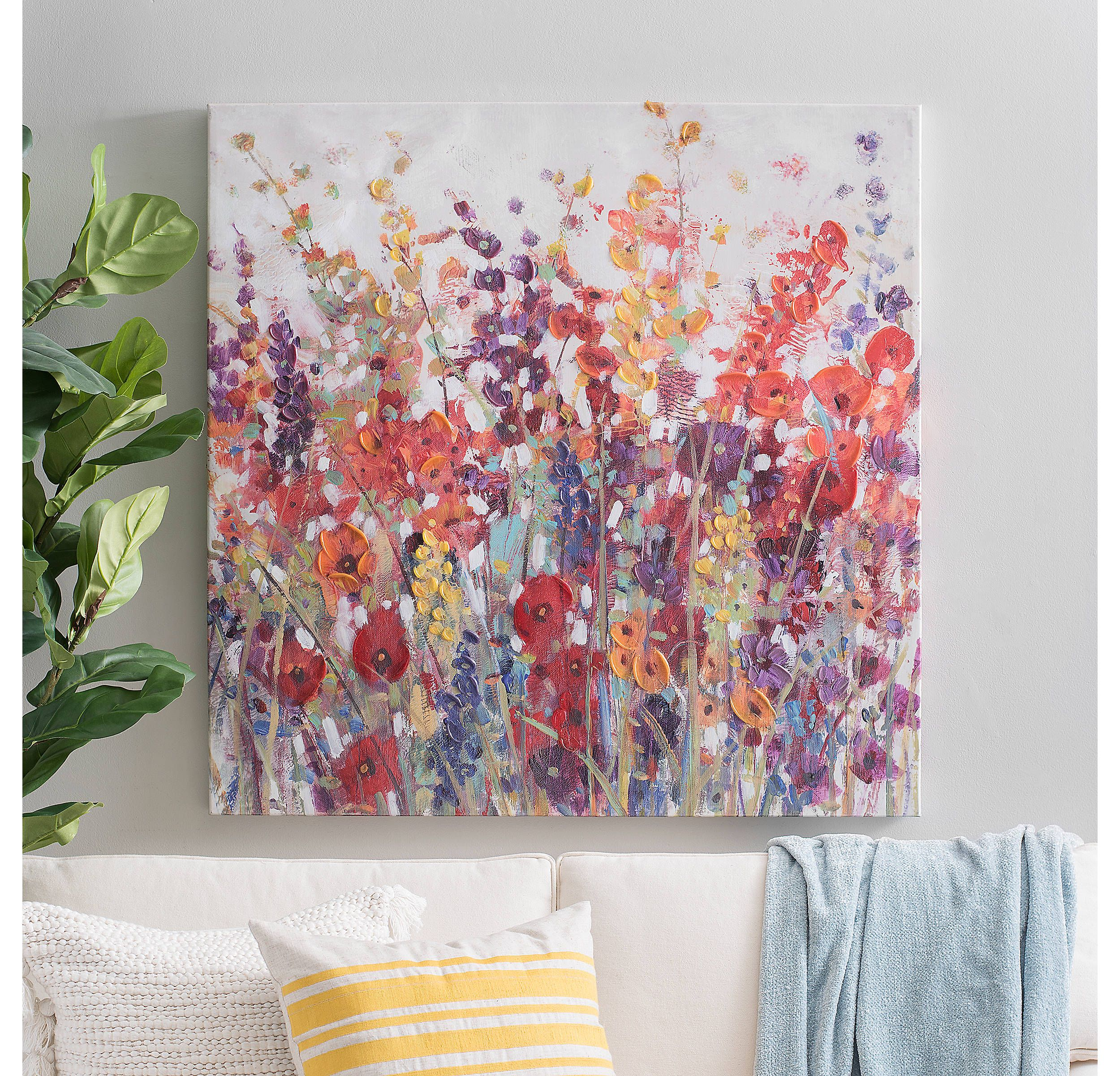 Product details wildflower field canvas art print in 2019 art