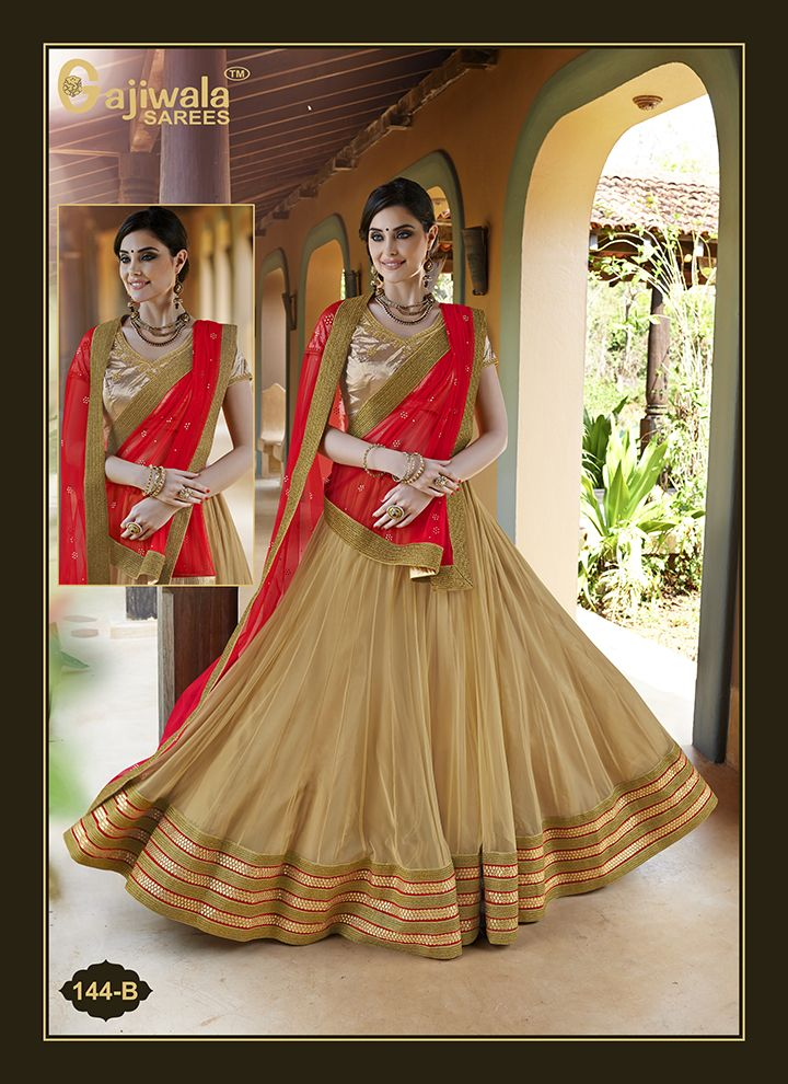 Soft Net Lehenga, Inner with Santoon,Soft Net Dupatta with Diamond Work,Blouse with Gota fabrics With Embroidery work