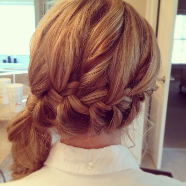Prom hair for this year! Side swept pony with a katniss ...
