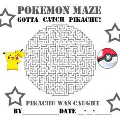 POKEMON COLORING PAGES: PIKACHU AND POKEBALL MAZE ...