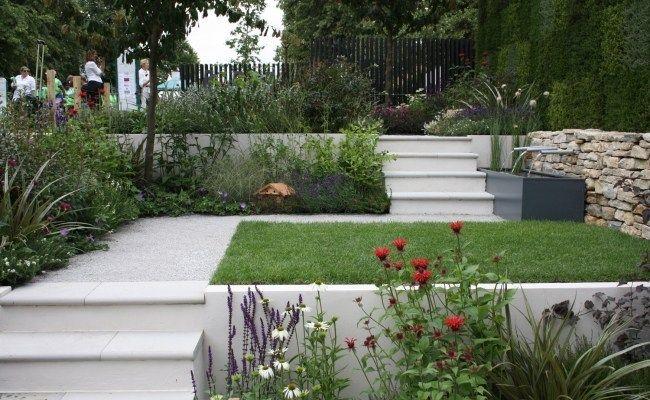 garten terrassen ideen rasen treppen brunnen stauden garden pinterest terrasse ideen. Black Bedroom Furniture Sets. Home Design Ideas