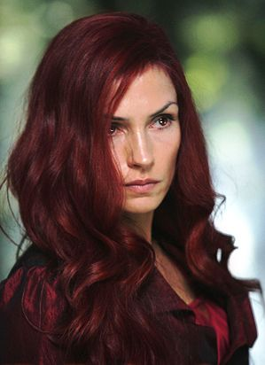 Famke Janssen As The Phoenix In Xmen The Last Stand Red Hair Blonde Hair Color Jean Grey Phoenix