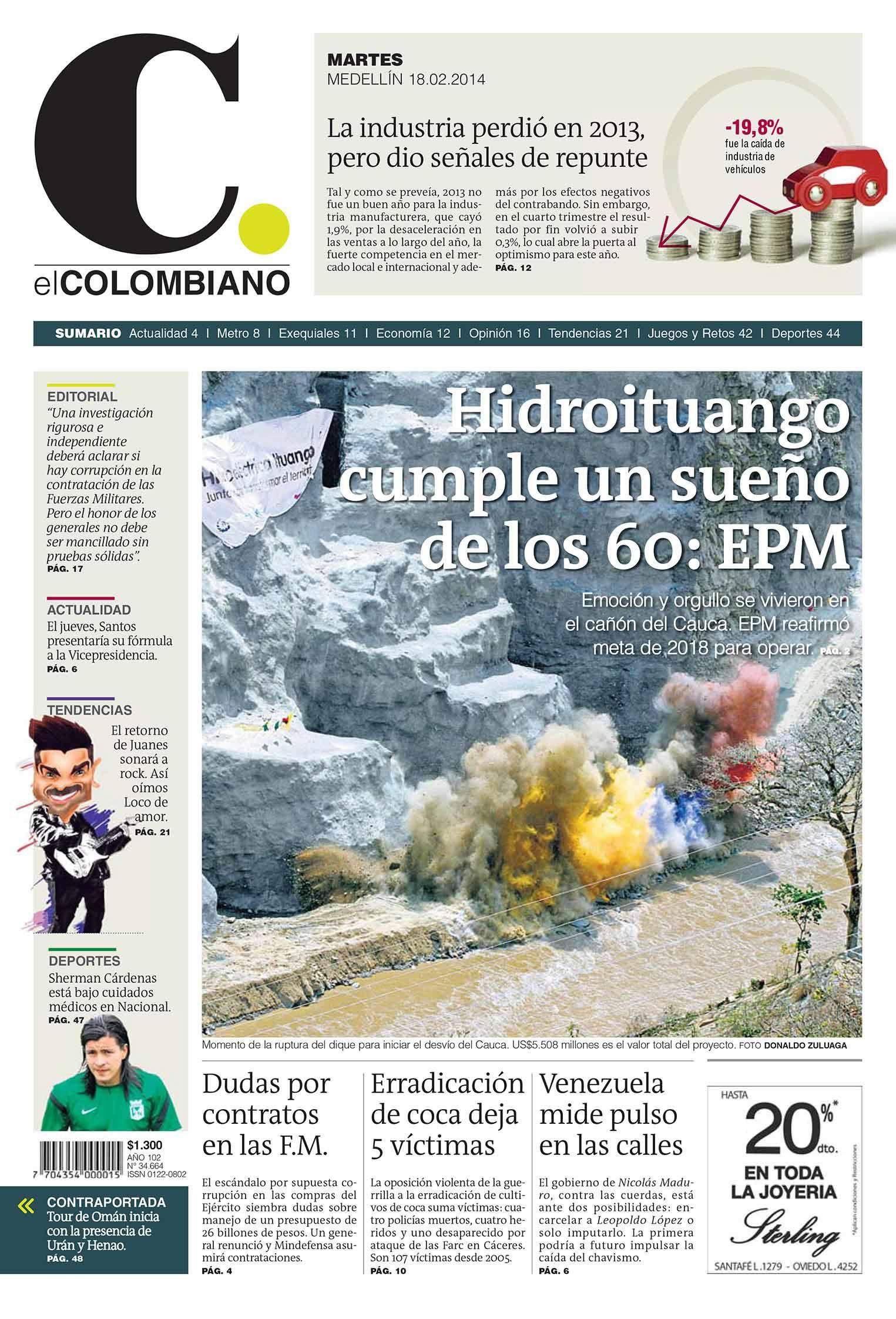 Portada Para La Edición Del Martes 18 De Febrero De Nuestro Diario Impreso Portadas Imprimir Sobres Actualidad