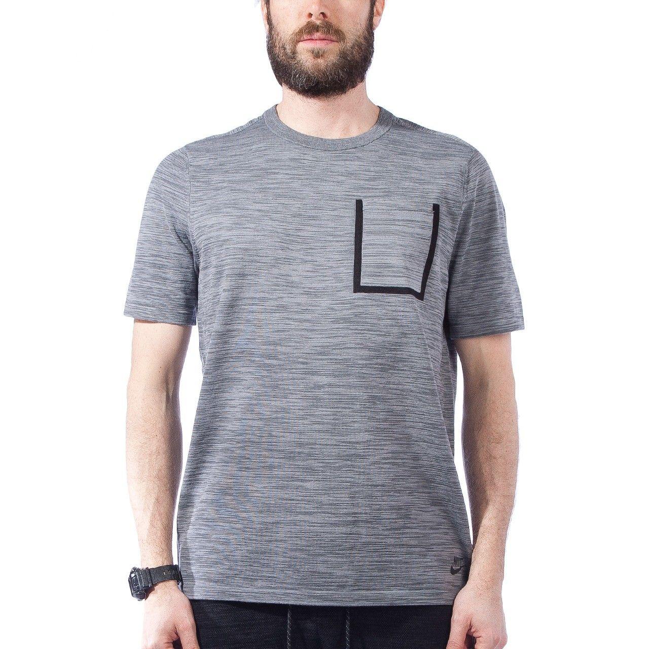 Nike Tech Knit Pocket TShirt (Cool Grey / Black)