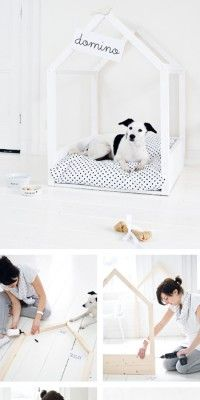 cooles hundebett zum selber bauen renovieren pinterest. Black Bedroom Furniture Sets. Home Design Ideas