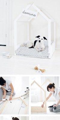 Cooles hundebett zum selber bauen renovieren pinterest dog dog houses and doggies - Hundebett ideen ...