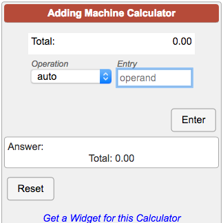 Online Adding Machine With Printable Running Tape Record Adding