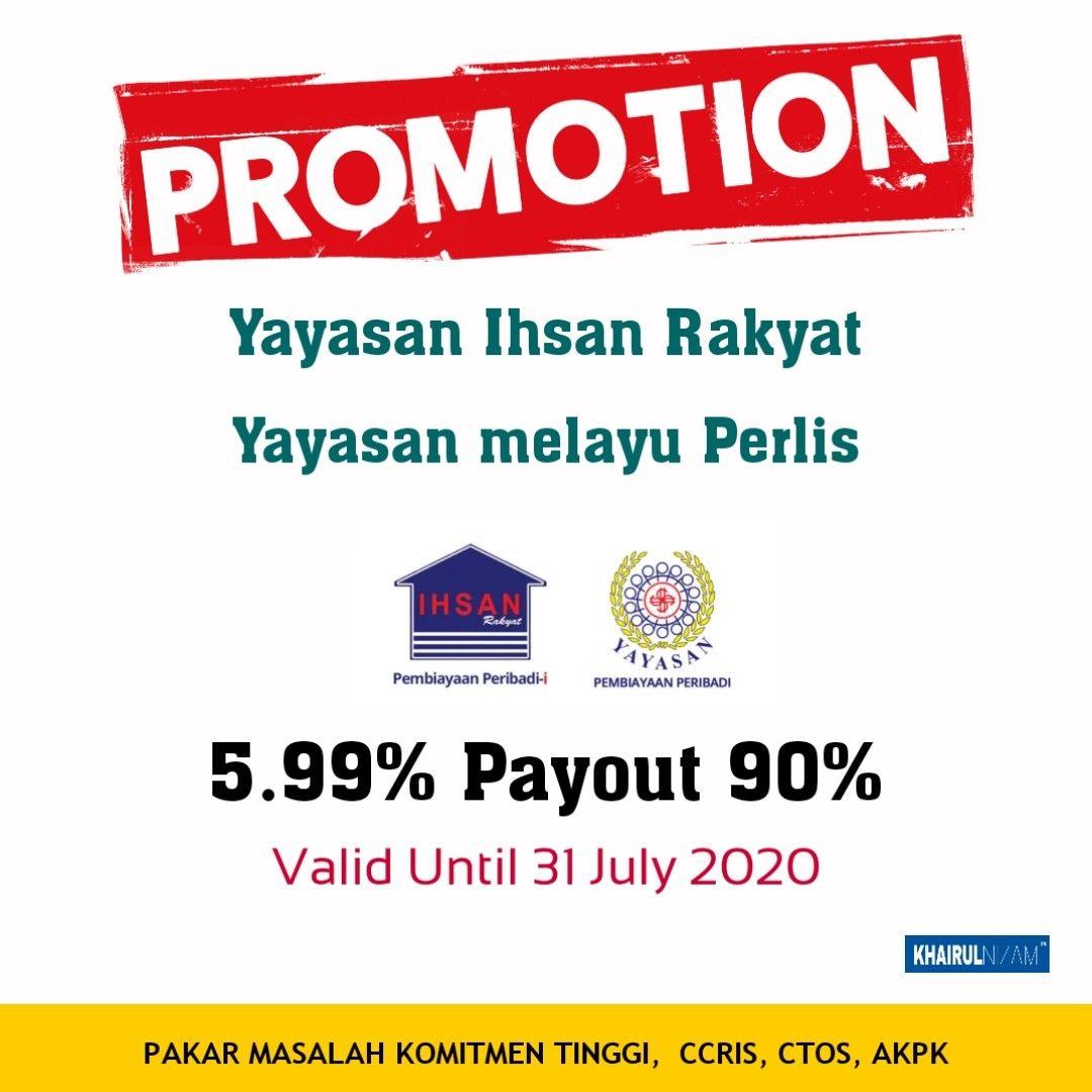 Promosi 5 99 Yayasan Ihsan Rakyat 2020 In 2020 Advisor Overlap Commitment