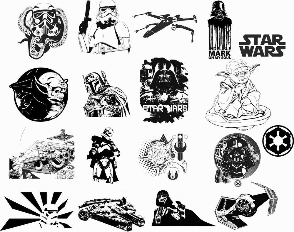 Star Wars Car Vinyl Sticker Auto Decals Vectors Free