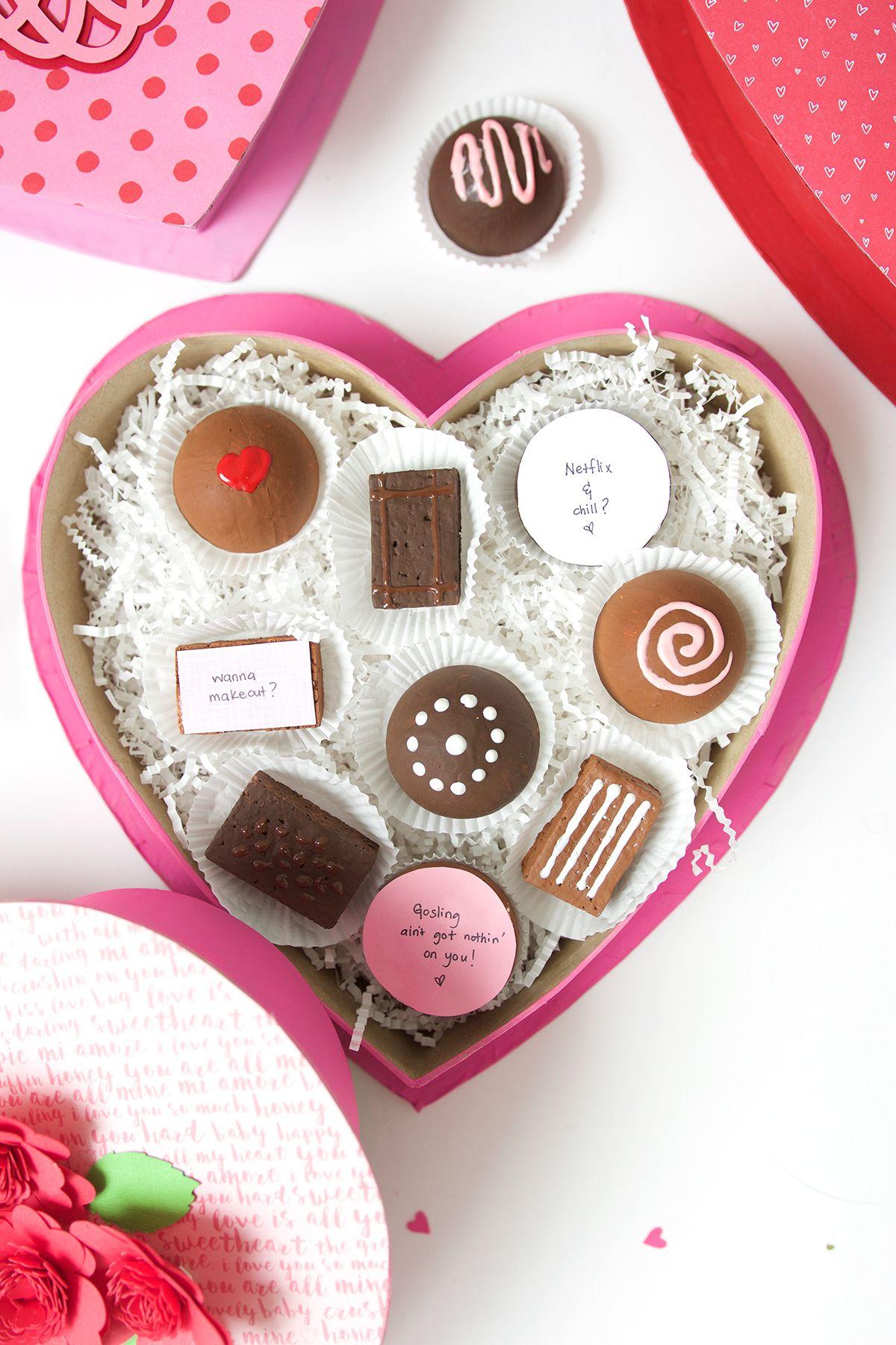 Diy Valentine Box Of Faux Chocolates Damask Love Diy Valentine S Box Valentines Diy Valentine S Day Diy