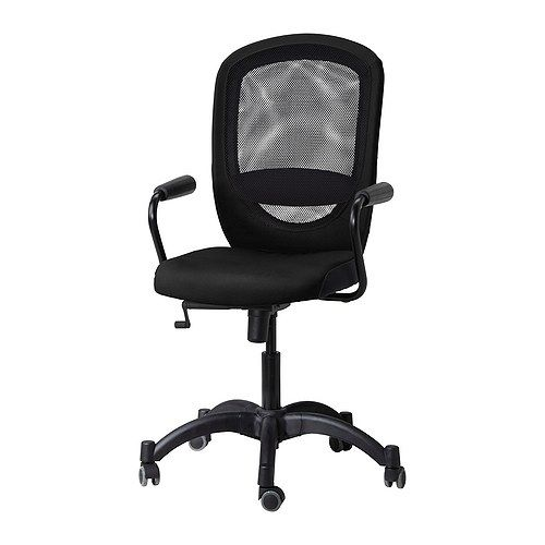 VILGOT/NOMINELL Swivel chair with armrests - black - IKEA   Dad\'s ...